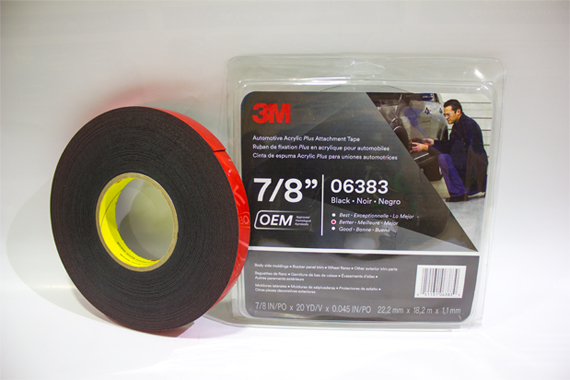 06383 22.2 mm X 18.2 mm X 1.1 mm 3M Automotive Acrylic Plus Attachment Tape
