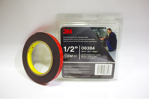 06384 12.7 mm X 4.6 mm X 1.1 mm 3M Automotive Acrylic Plus Attachment Tape 1/2
