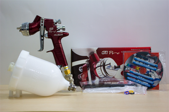H1C-13 Devilbiss GTi Pro Clear Professional Spray Gun & Gravity Cup Clear